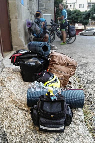 Albergue de Ourense. 28 de agosto de 2017. A punto de reanudar el Camino