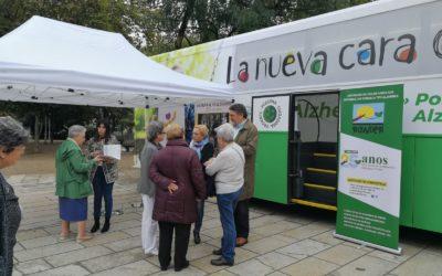 Autobuses de CEAFA recorren España para concienciar sobre el alzhéimer