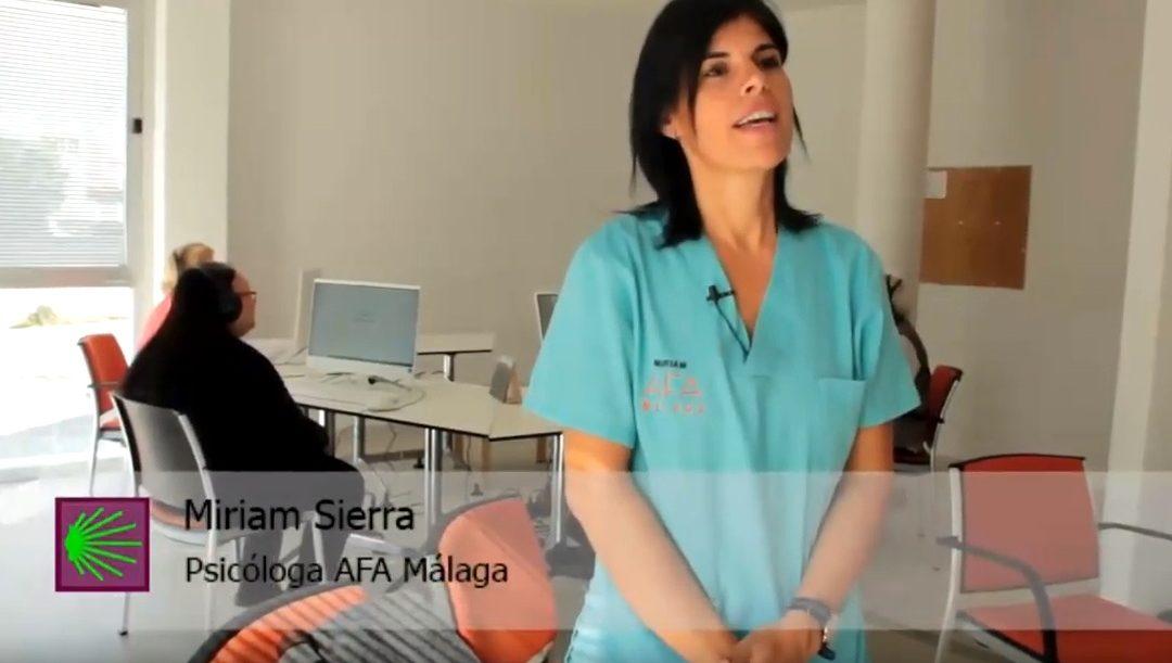Así son las terapias en AFA Málaga (III): Estimulación cognitiva por ordenador