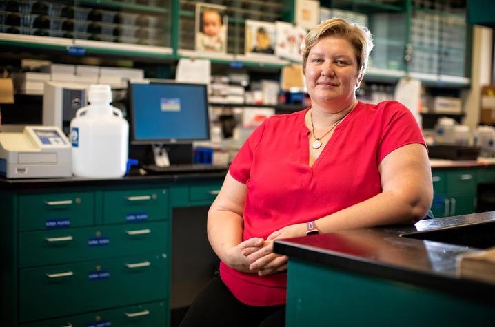 Donna Wilcock, en su laboratorio. Ukphoto